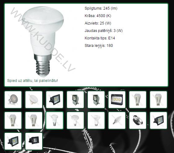 www.kudde.lv produktu atspoguļošana